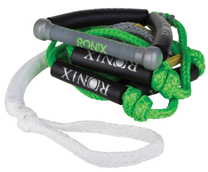 """RONIX BUNGEE SURF ROPE 10"""" HANDLE 25FT - 4 SECTION ROPE"""