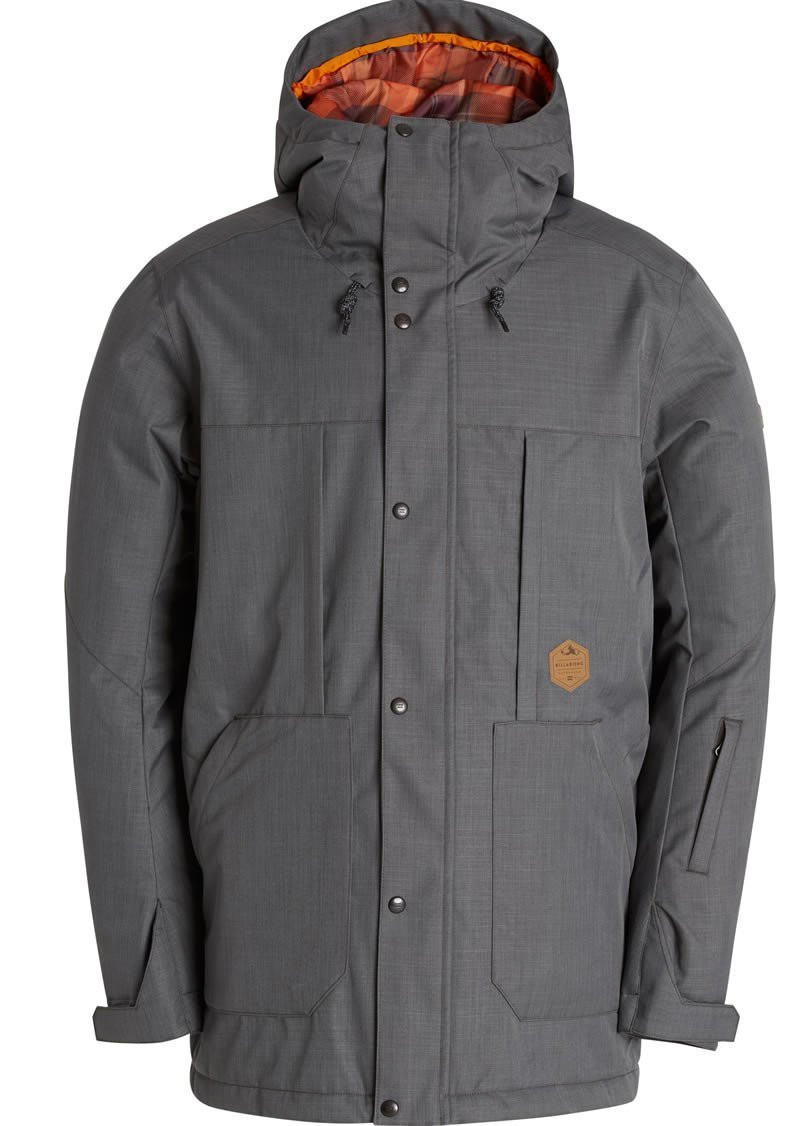 BILLABONG 2017 NORTH POLE JACKET INSULATED - GREY