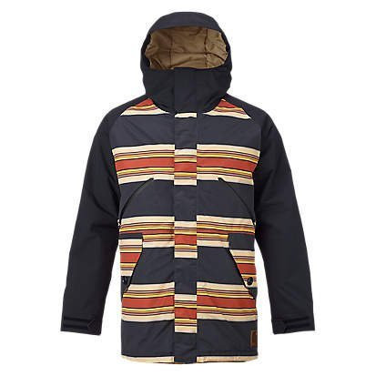 BURTON MENS BREACH JACKET - VINTAGE STRIPE