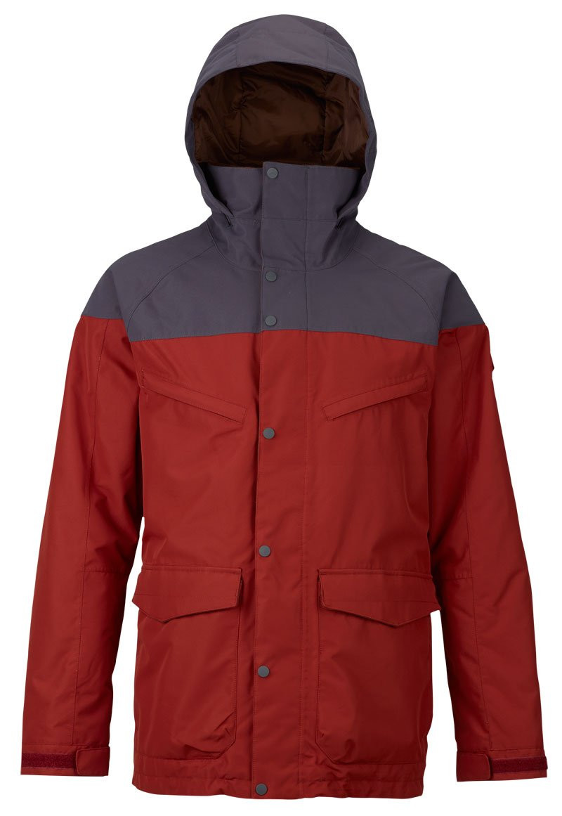 BURTON MENS BREACH SHELL JACKET - RED