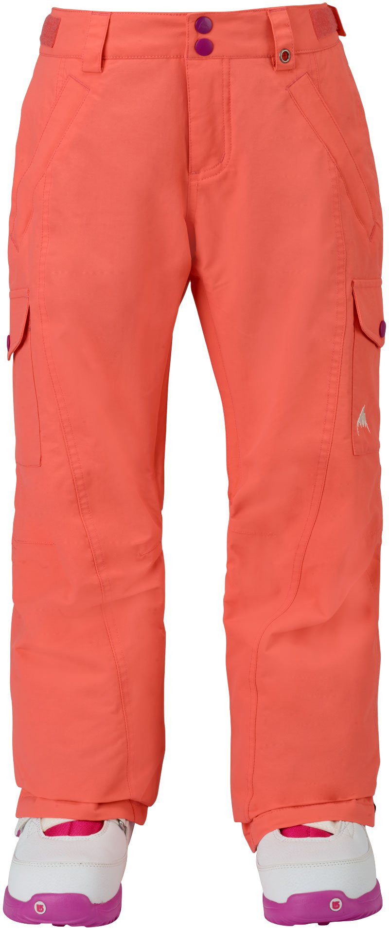 BURTON GIRLS ELITE CARGO SNOW PANT - PEACH