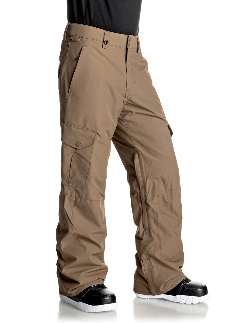 QUIKSILVER PORTER SNOW PANTS- BROWN