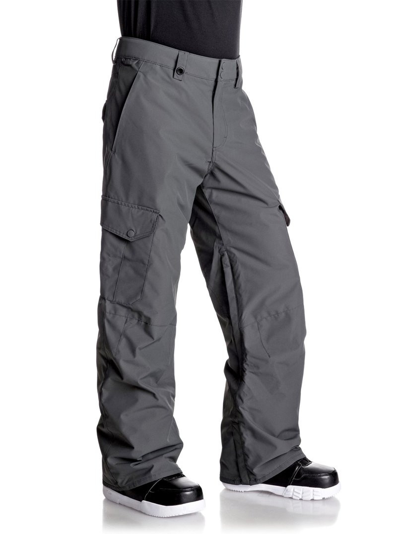 QUIKSILVER PORTER SHELL SNOW PANTS- GREY