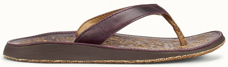 OLUKAI PANIOLO WOMENS SANDAL - BLACKBERRY