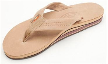 RAINBOW PREMIER LEATHER DOUBLE LAYER WOMENS SANDALS - SIERRA BROWN