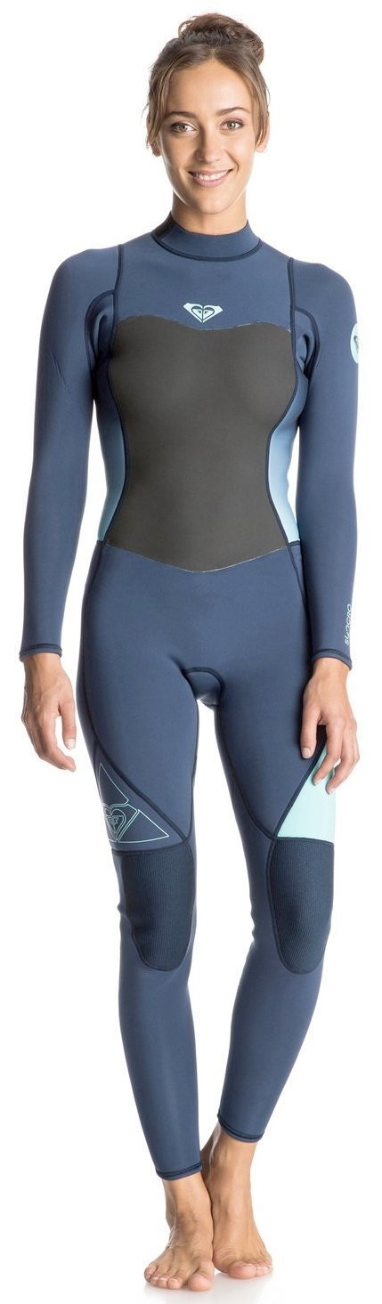 ROXY SYNCRO 3/2mm BACK ZIP FULL WETSUIT - BLUE  12