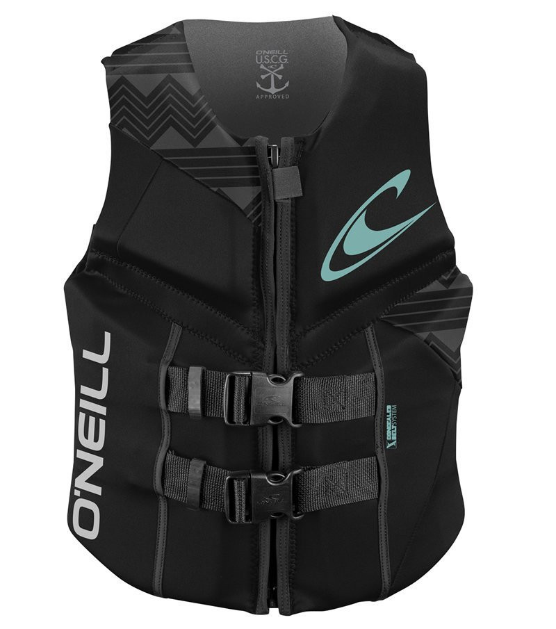 O'NEILL 2016 WOMENS REACTOR USCG VEST - BLACK
