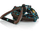 """LIQUID FORCE 9"""" ULTRA SUEDE DLX SURF HANDLE WITH ROPE - BROWN"""