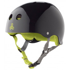 TRIPLE 8 BRAINSAVER HELMET BLACK GLOSS GREEN