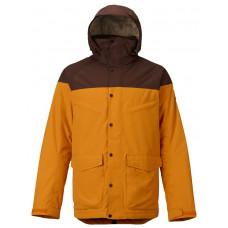 BURTON MENS BREACH SHELL JACKET - YELLOW