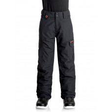 QUIKSILVER PORTER BOYS YOUTH SNOW PANTS- BLACK