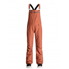 ROXY NON STOP BIB SNOW PANTS - ROOIBOS TEA