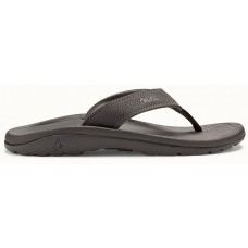 OLUKAI 'OHANA MENS SANDAL - BLACK/DARK SHADOW
