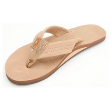 RAINBOW PREMIER LEATHER SINGLE LAYER WOMENS SANDALS - SIERRA BROWN