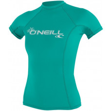 O'NEILL WOMENS BASIC SKINS SHORT SLEEVE CREW