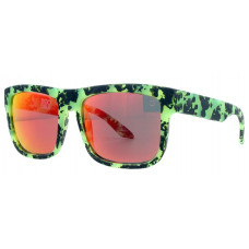 SPY OPTICS BROSTOCK DISCORD SUNGLASSES - HAPPY GRAY/GREEN W/ RED SPECTRA