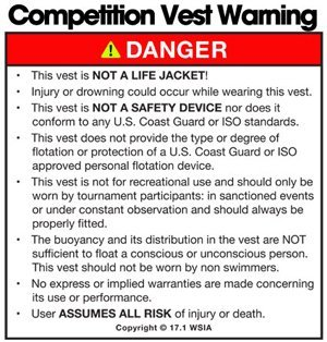 Competition Vest warning