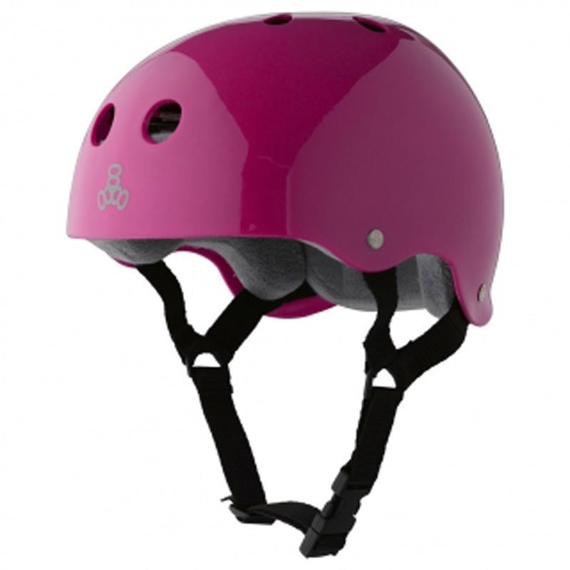 TRIPLE 8 BRAINSAVER HELMET PINK GLOSS