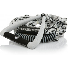 """LIQUID FORCE 9"""" ULTRA SUEDE DLX SURF HANDLE WITH ROPE - WHITE"""