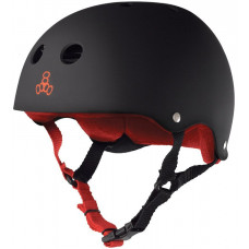 TRIPLE 8 BRAINSAVER HELMET BLACK W/ RED
