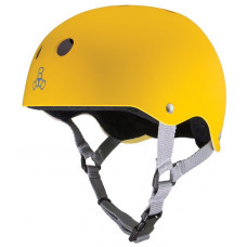 TRIPLE 8 BRAINSAVER HELMET YELLOW RUBBER W/ BLACK LINER