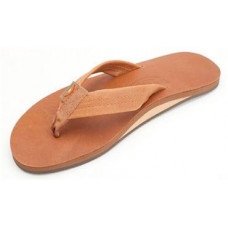 RAINBOW CLASSIC LEATHER SINGLE LAYER MENS SANDALS - TAN BROWN