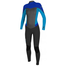 O'NEILL WOMENS FLAIR ZEN ZIP 3/2MM FULLSUIT - BLUE
